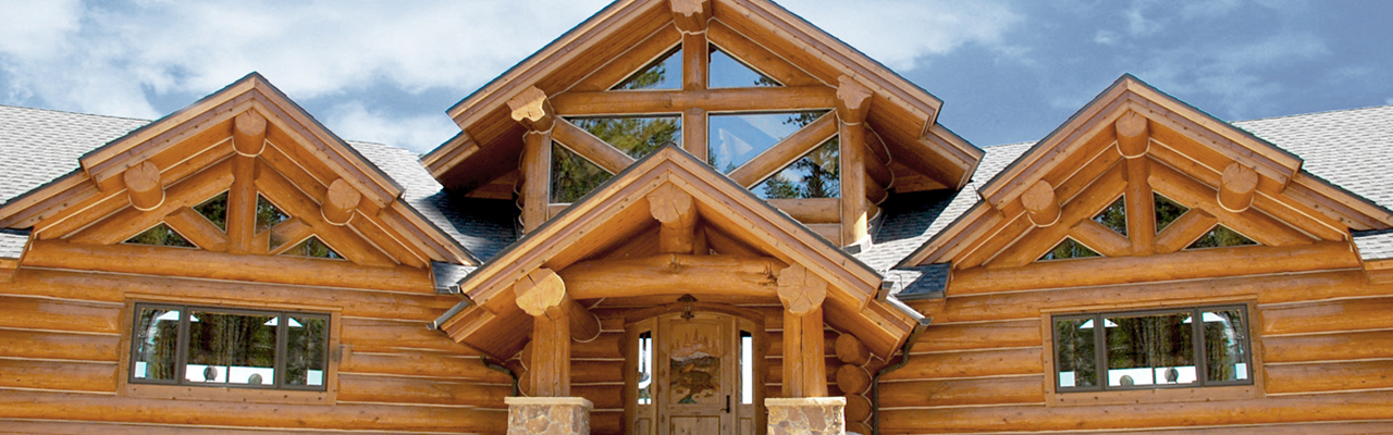 Log Home Builders In Colorado, Hand Hewn Log Railings, Custom Log Homes, Log