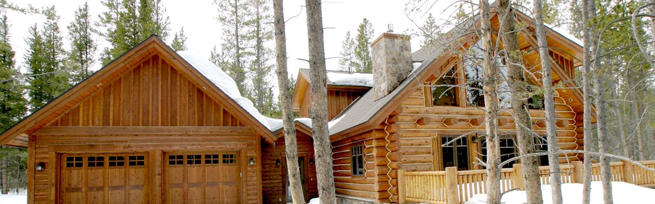 Log Home Builders in Colorado   Log Railings   Log Rail